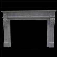 Interior Furniture-Bianco Carrara Marble Fireplace