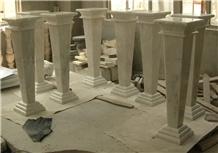 Italy White Marble Polished Balcony Balustrade