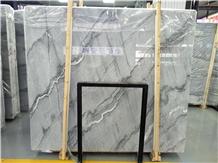 Marmara Wave Grey Marble Slab, Polished Gray Stone