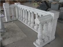 Oriental White Marble Balcony Balustrade & Railing