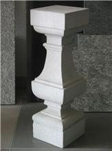 White Limestone Coral Stone Chiseled Carved Balustrade