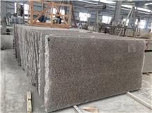 Wulian Flower Red Granite Slab Project Tiles