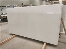 Pure White Quartz Stone Kitchen Slabs Wall Floor