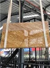 Dubai Gold Marble Flooring Slabs