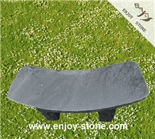 Black Curved Garden Bench/ Outdoor Bench
