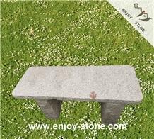 Grey Square Garden Bench/ Outdoor Bench