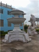 Granite Hand Make Fountain for Exterior Design