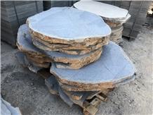 Hainan Black Granite Flagstone Paving Stone China