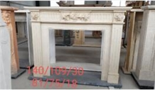 Pure White Marble Carved Modern Fireplace