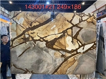 Flamenco Gold Quartzite Slabs Tiles for Wall Floor