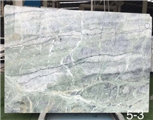 Jade Green Cloud Marble Slabs Grey Floor Wall Tile