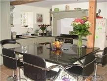 Angola Black Granite Polished Kitchen Countertops