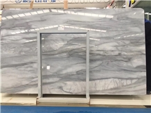 Balkan White and Grey Marble Polished Big Slabs
