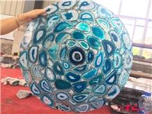 Blue Agate Semiprecious Stone Kitchen Worktops