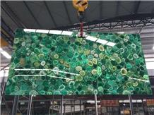 Green Agate Polished Semiprecious Stone Slabs