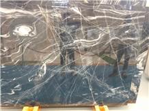 Iran Wavy Black Marble Polished Big Slabs