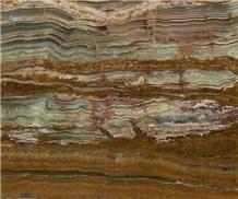 Pakistan Bamboo Green Onyx Polished Tiles & Slabs