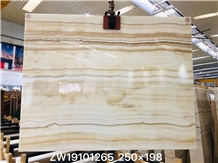 Pakistan White Wooden Onyx Polished Big Slabs