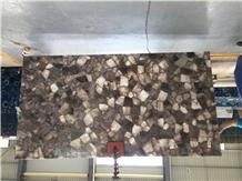 Smoky Crystal Polished Semi Precious Stone Slabs
