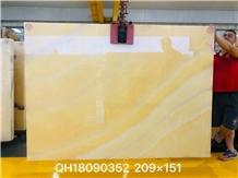 Yellow Onyx Polished Big Slabs & Floor Covering