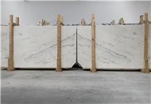 Cream Estremoz Marble, White Michelangelo Slabs