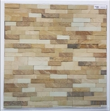 Mint Multi Sandstone Ledge Stone Wall Panel