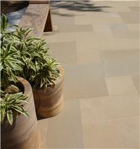 Prato Honed Katni Yellow Sandstone Terrace Paving Tiles