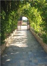 Sagar Black Sandstone Pave Setts, Walkway Pavers