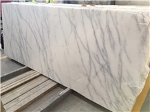 White Veined Marble Slabs - Available in Stock