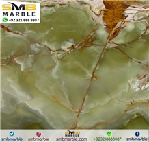 Dark Green Onyx Slabs & Tiles