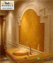 Pakistani Gold Slabs & Tiles Indus Gold Limestone