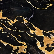Pakistani Portoro Marble Slabs & Tiles