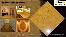 Precious Golden Marble Slabs, Golden Flower