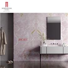 Rosa Pink Ceramic Big Size Tile Slab Bathroom Wall