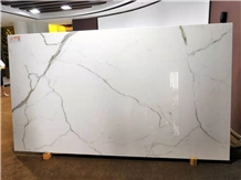 Carrara Nano Crystallized Glass Stone Slabs