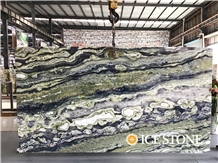 Twilight Green Marble Bookmatched Slabs