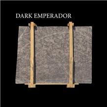 Dark Emperador Turkish Beige Marble Slabs