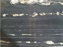 Brazil Nero Portoro Golden Black Marble Slabs