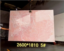 Iran Pink Onyx Slab for Artifacts Decorative Items