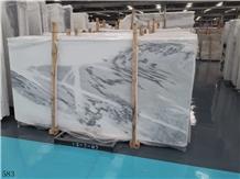 Mountain Ink Black-White Marble Jade Interior Tile