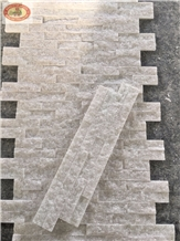 Crystal White Marble Stack Ledge Culture Stone