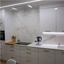 Bianco Calacatta White Marble Modern Kitchen Decor