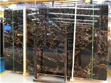 Big Slab Athens Portoro Black Marble Stone