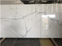 Calacatta White Engineered Quartz Caesarstone Wall
