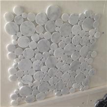 Circle Round Mosaic Tile Backsplash
