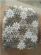 Daisy Flower Shape Mosaic Tiles for Wall