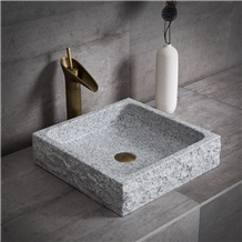 Grey Granite Sink Bathroom Countertop Waish Basin