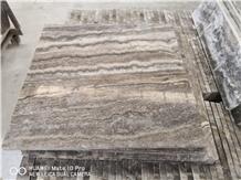 Iran Silver Grey Travertine Tile & Slabs