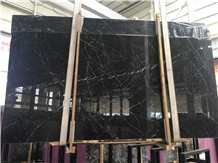 Italy Black Marble with White Veins Tiles & Slabs