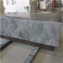 Marble Rectangle Tabletops with Wood Frame